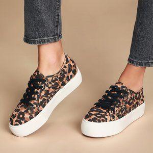 "Steve Madden NEW Platform Sneaker ""emmi"" leopard 8"